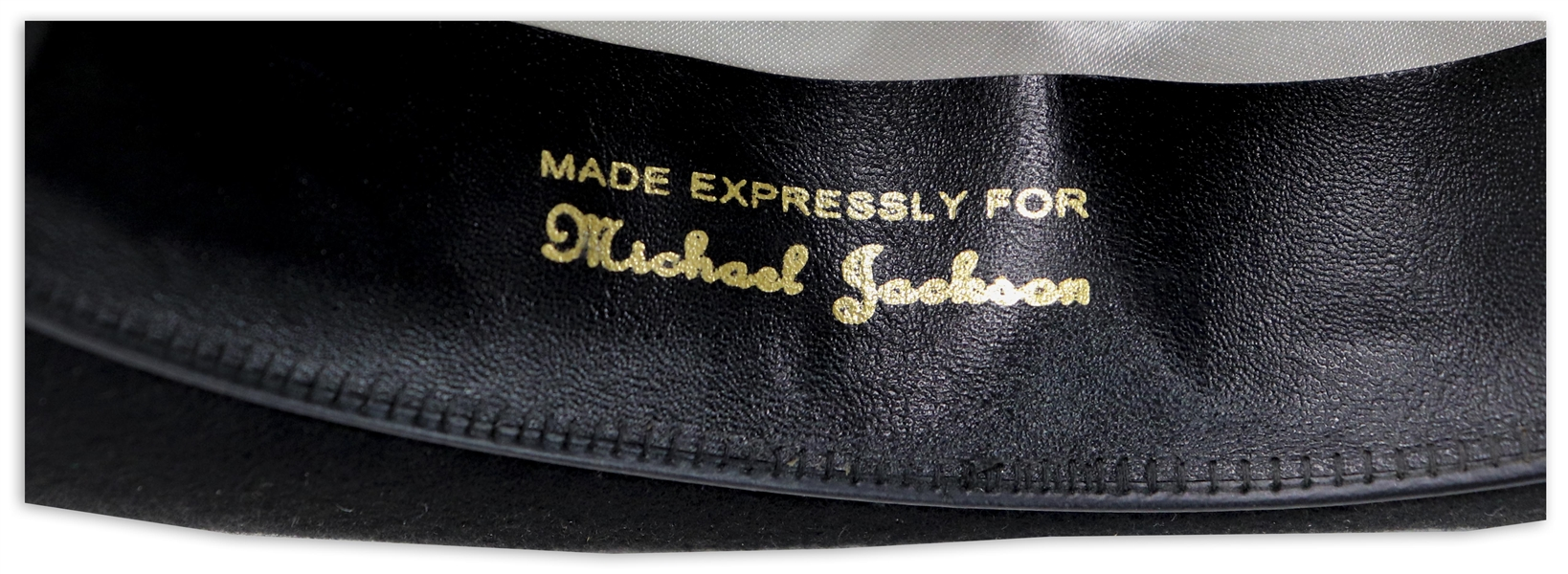 Michael Jackson's Famous Stage-Worn Black Fedora -- From 1984 ''Victory'' Tour Used When Jackson Performed ''Billie Jean''